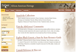 A digital resource exclusively devoted to African American family history research